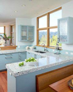 آبی دکوراسیون آشپزخانه