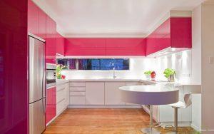 صورتی در آشپزخانه
